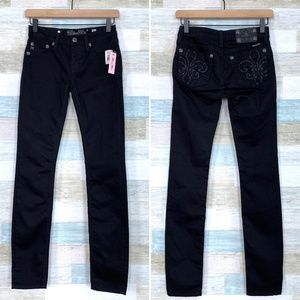 Black Skinny Jeans Embellished Miss Me Girls